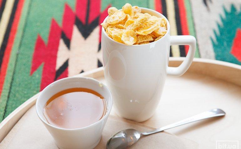 Какао с кукурузными лопьями и медом — 300/425 гр, 46/56грн