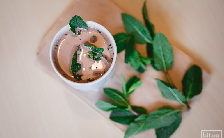 Какао со свежей мятой — 300/425 гр, 44/54грн